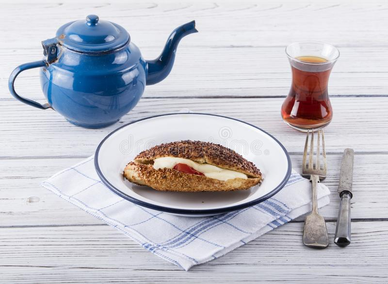 Śniadanie z kumru obraz stock