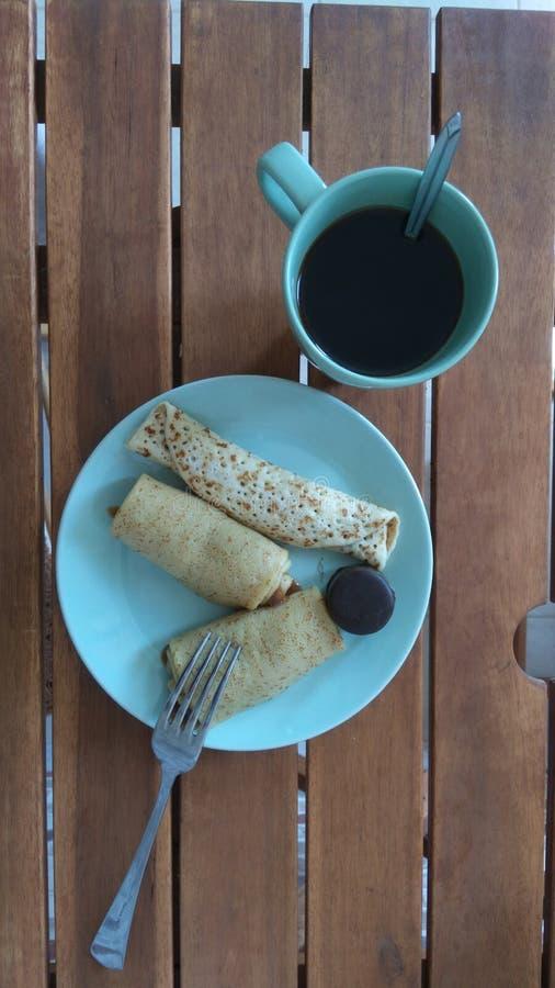 Śniadanie zieleń zdjęcia stock