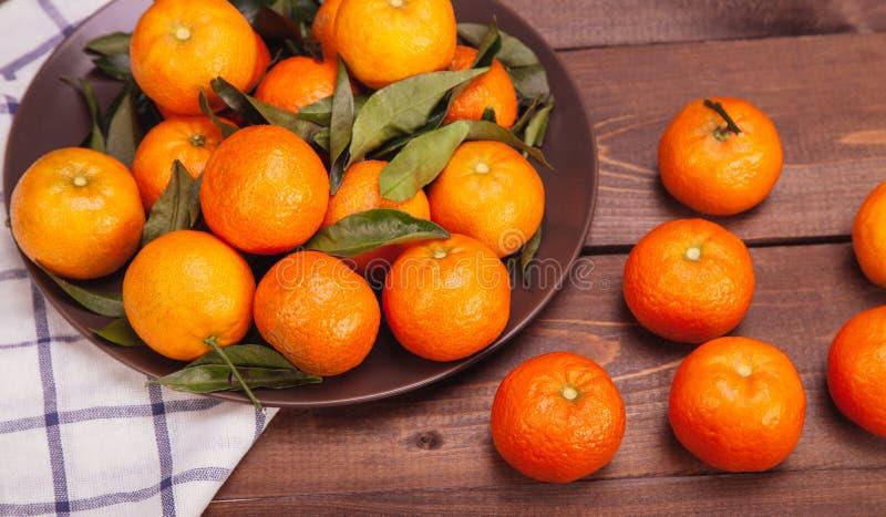 Śniadanio-lunch tangerines fotografia stock