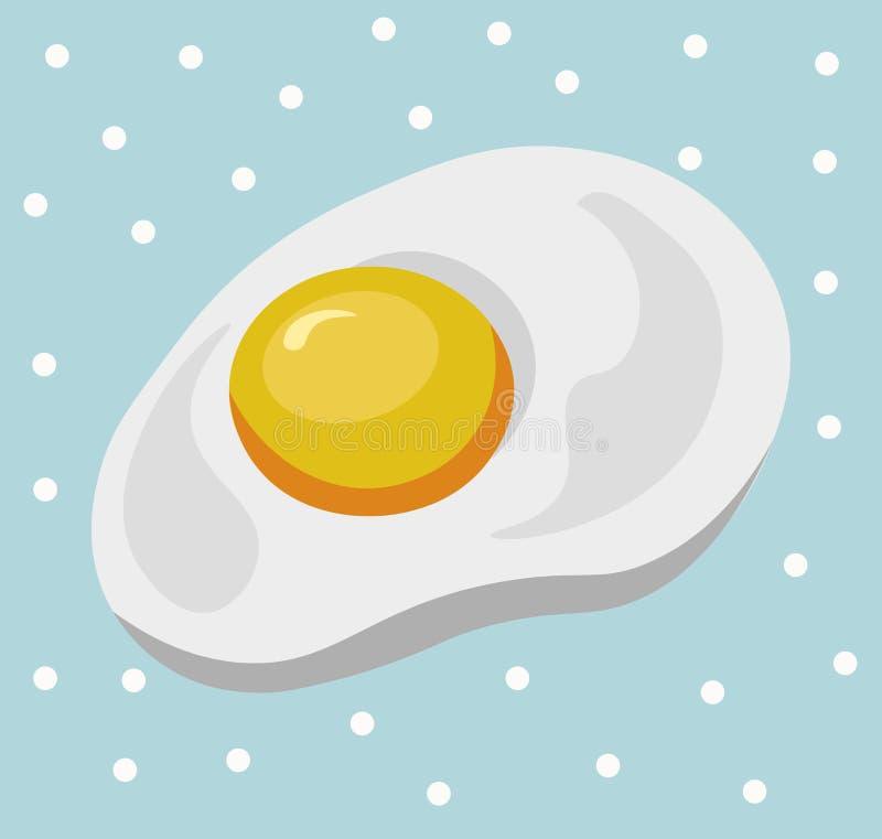 Śniadaniowego jajka tła wektoru szczegółowa ilustracja ilustracji