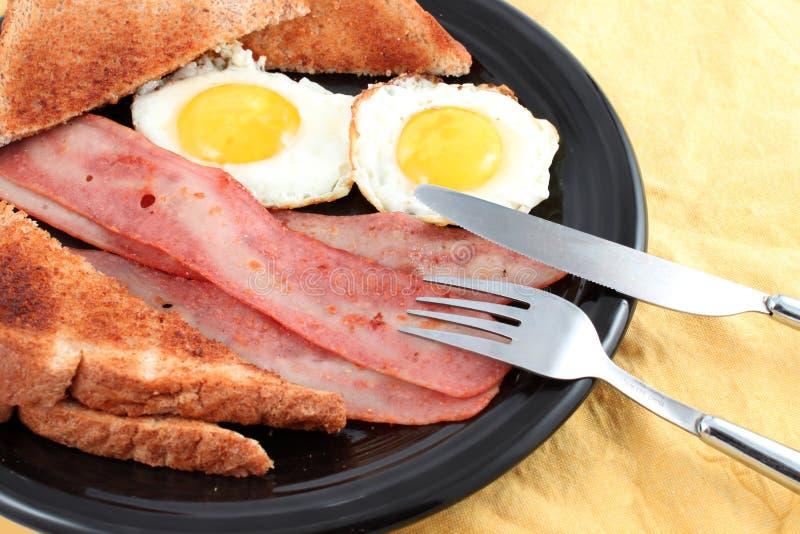 śniadaniowi bekonów jajka zdjęcie stock