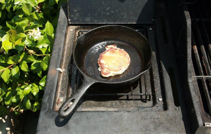 śniadaniowi czarna jagoda bliny obraz royalty free