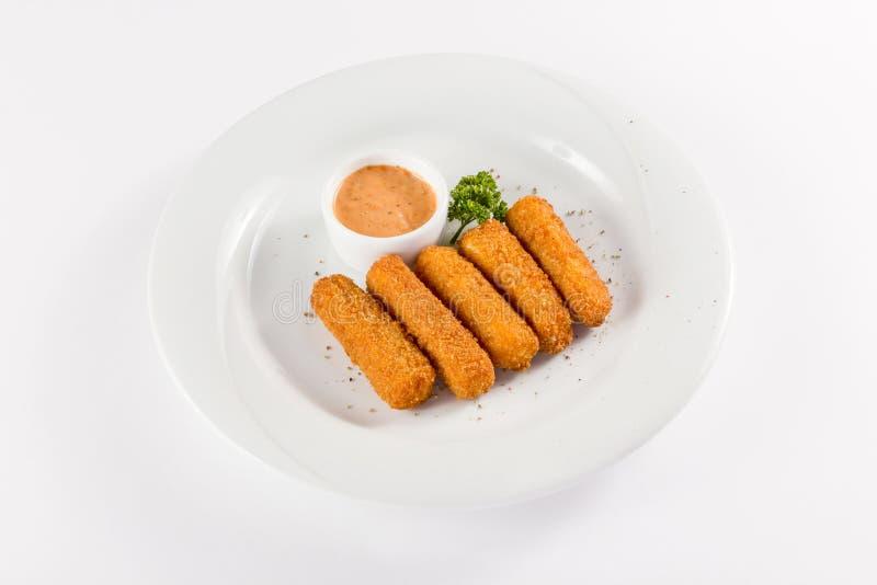 Śniadaniowi kurczaków cutlets zdjęcia royalty free