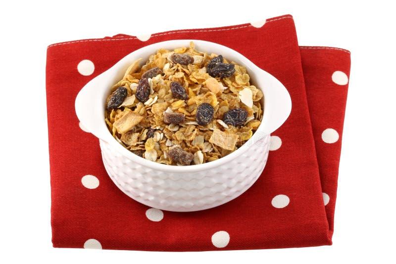 Śniadaniowi zboża z wysuszonym - owoc obraz stock