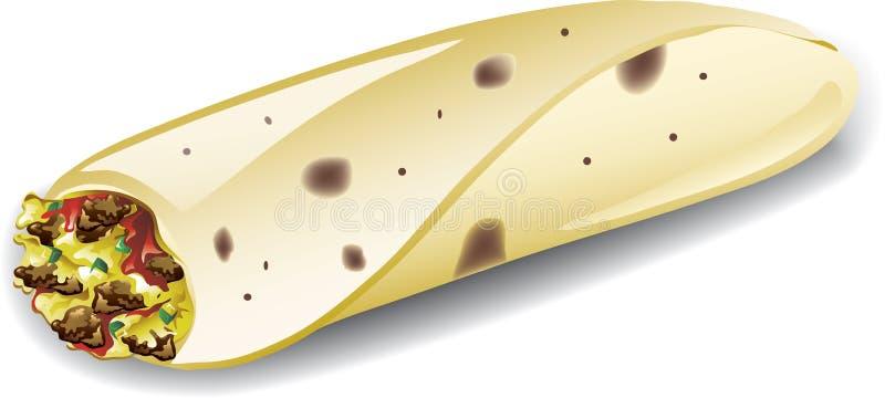 Śniadaniowy burrito royalty ilustracja