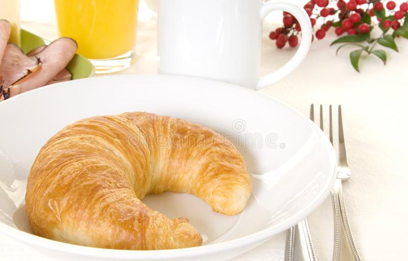 śniadaniowy croissant fotografia stock
