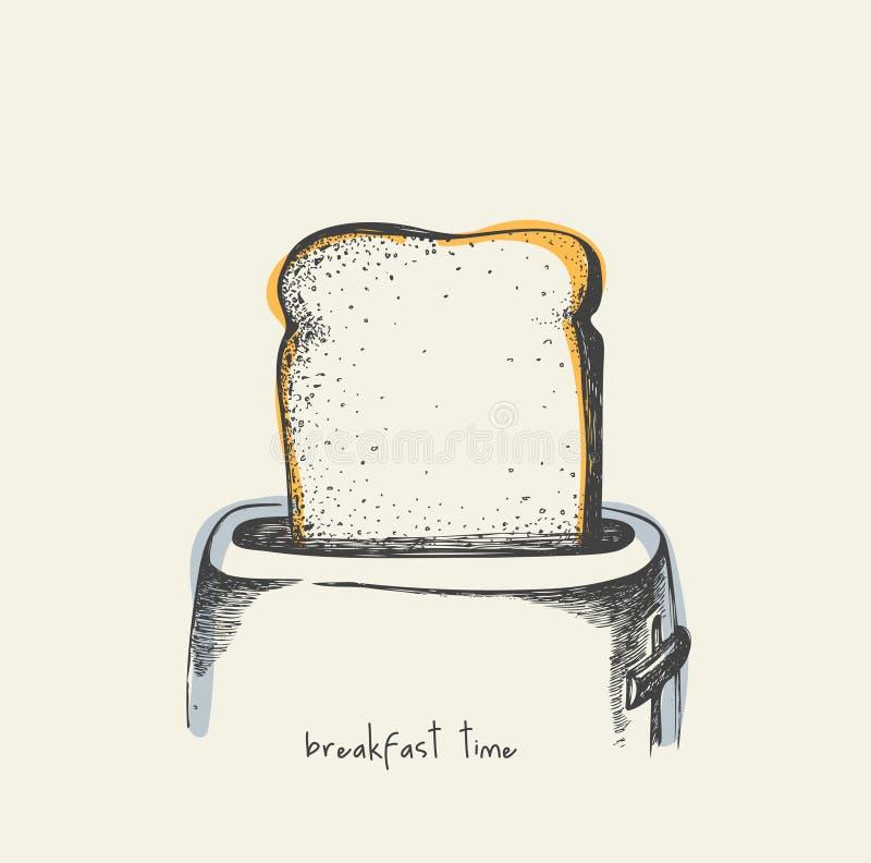 Śniadaniowy czas - rysujący ilustracja wektor