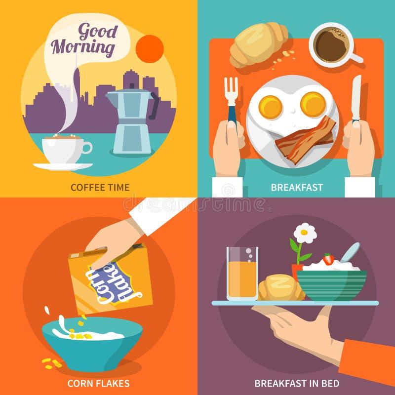 Śniadaniowy ikony mieszkanie