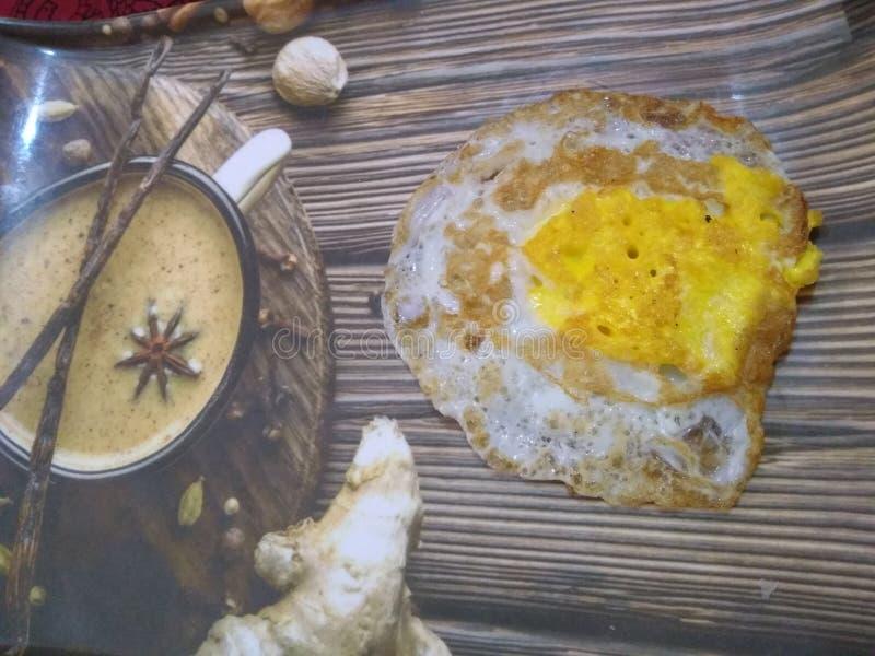 Śniadaniowy jajeczny dłoniak obraz royalty free
