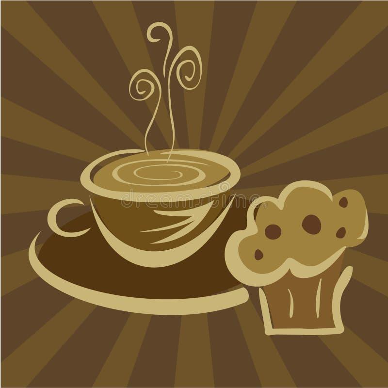 śniadaniowy kawowy słodka bułeczka royalty ilustracja
