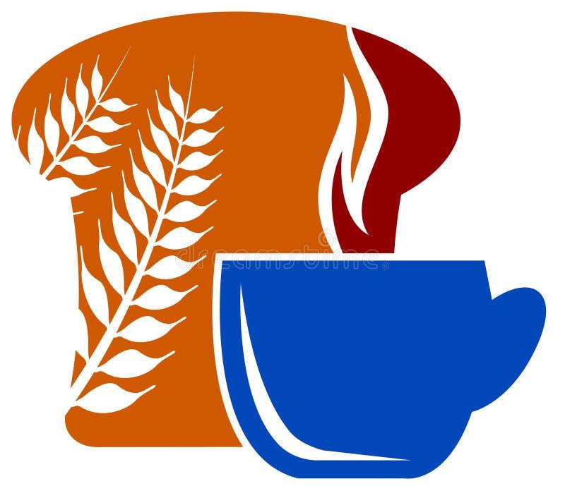 Śniadaniowy logo ilustracja wektor