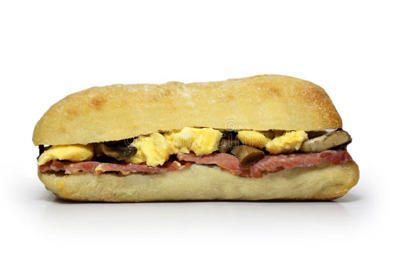 Śniadaniowy Panini zdjęcie stock