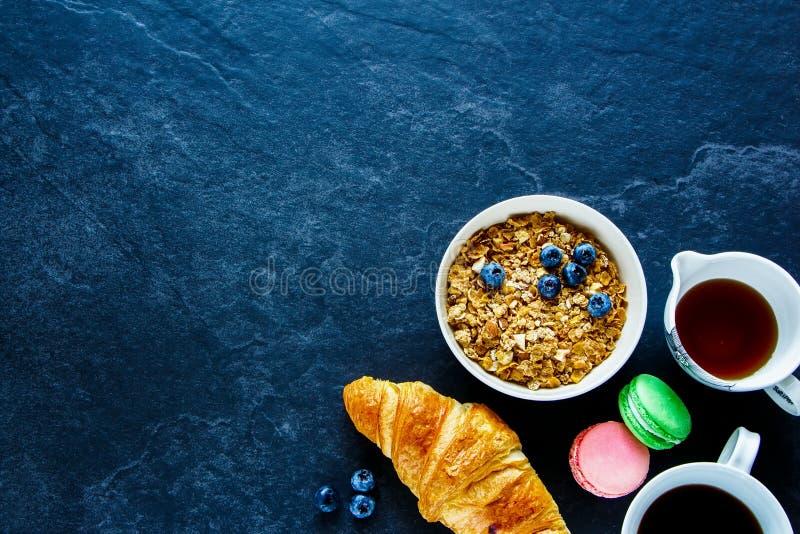 Śniadaniowy pojęcie na stole obraz stock