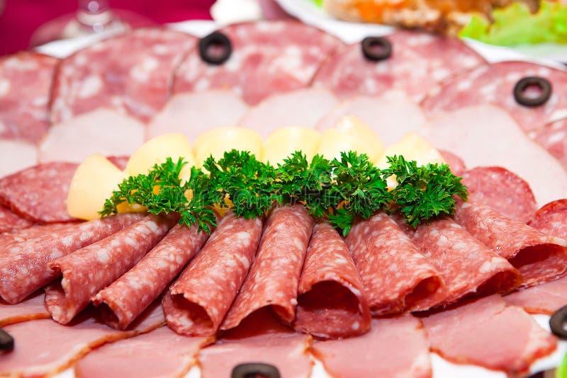 śniadaniowy rżnięty mięso zdjęcie stock