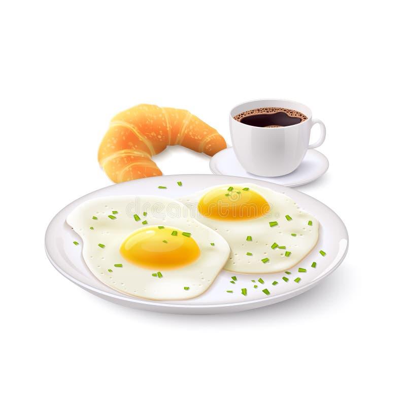 Śniadaniowy Realistyczny set royalty ilustracja