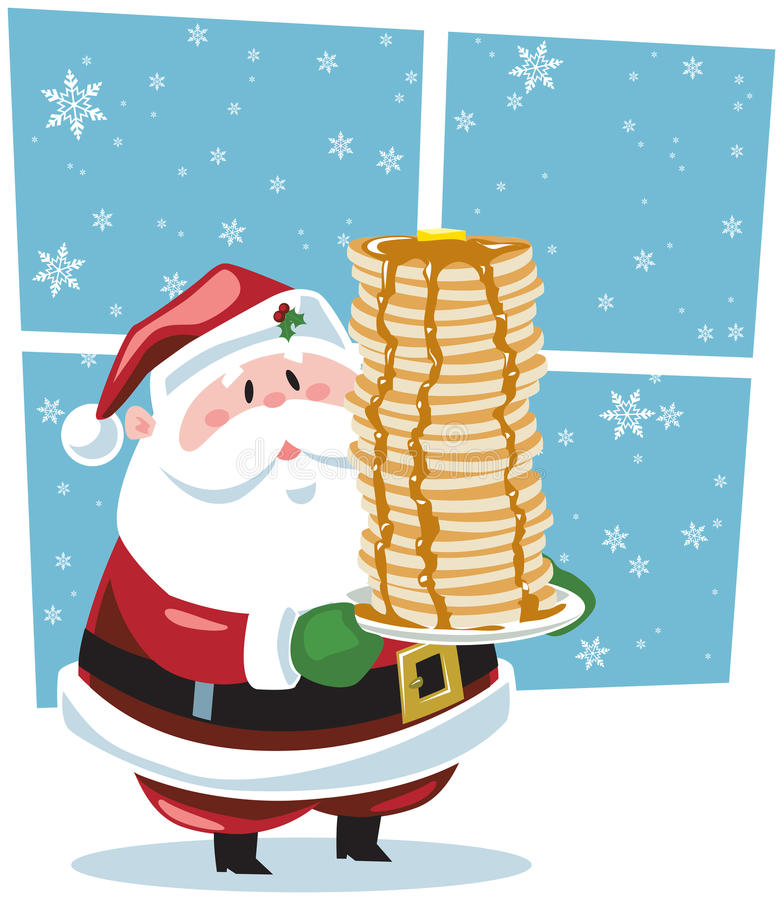 śniadaniowy Santa royalty ilustracja