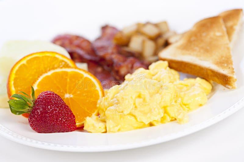 śniadaniowy talerz obraz stock