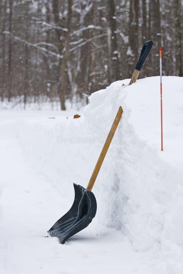 Śnieżna łopata zdjęcia royalty free