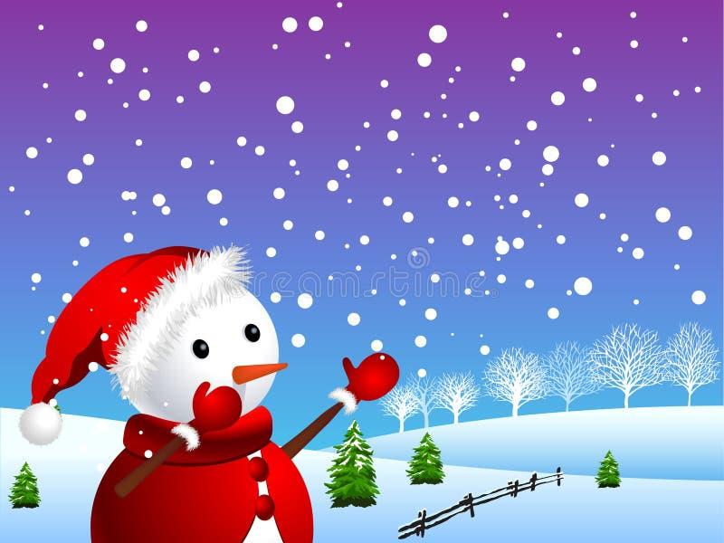 śnieżna bałwan zima ilustracji