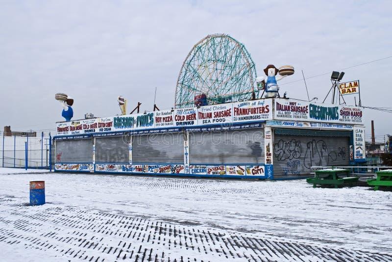 śnieżna coney wyspa zdjęcia stock