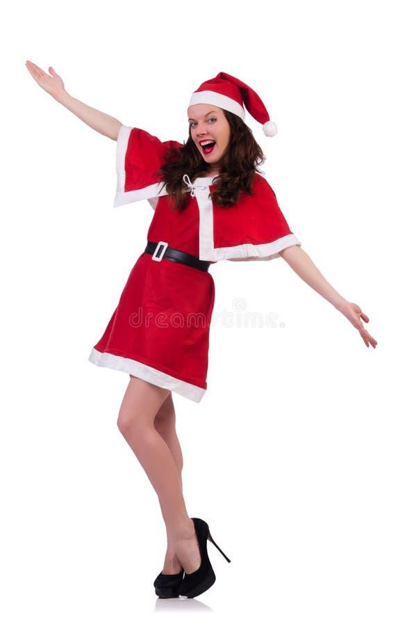 Śnieżna dziewczyna Santa w bożego narodzenia pojęciu zdjęcia royalty free