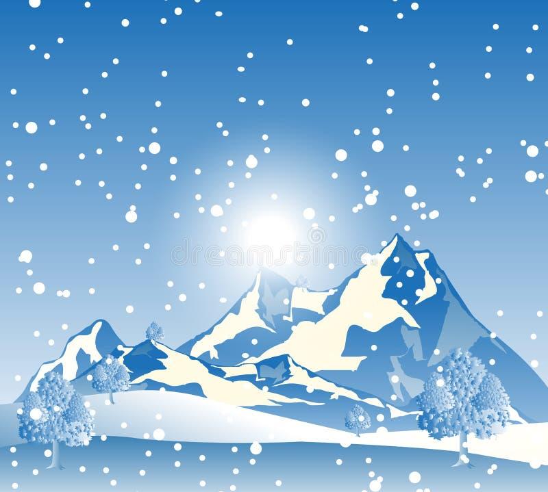 Śnieżna góra royalty ilustracja