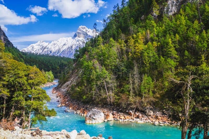 Śnieżna góra piękny uroczystego jaru ï ¼ Œ obraz stock