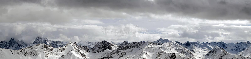śnieżna góry panorama zdjęcie royalty free