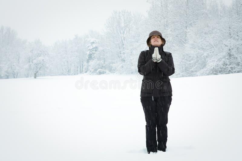 śnieżna kobieta fotografia royalty free