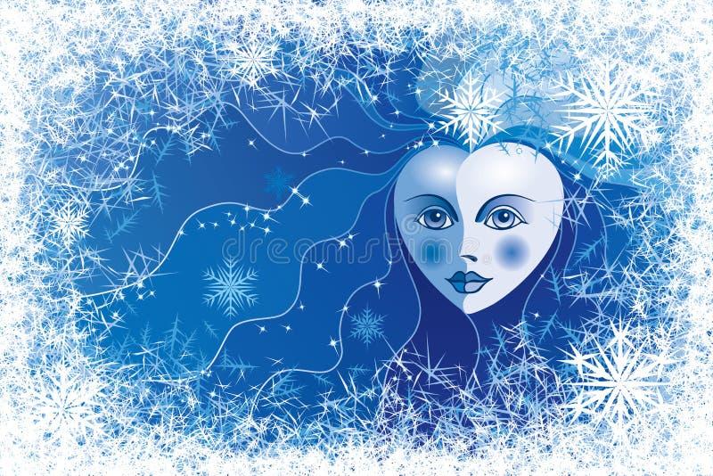 Śnieżna królowa royalty ilustracja