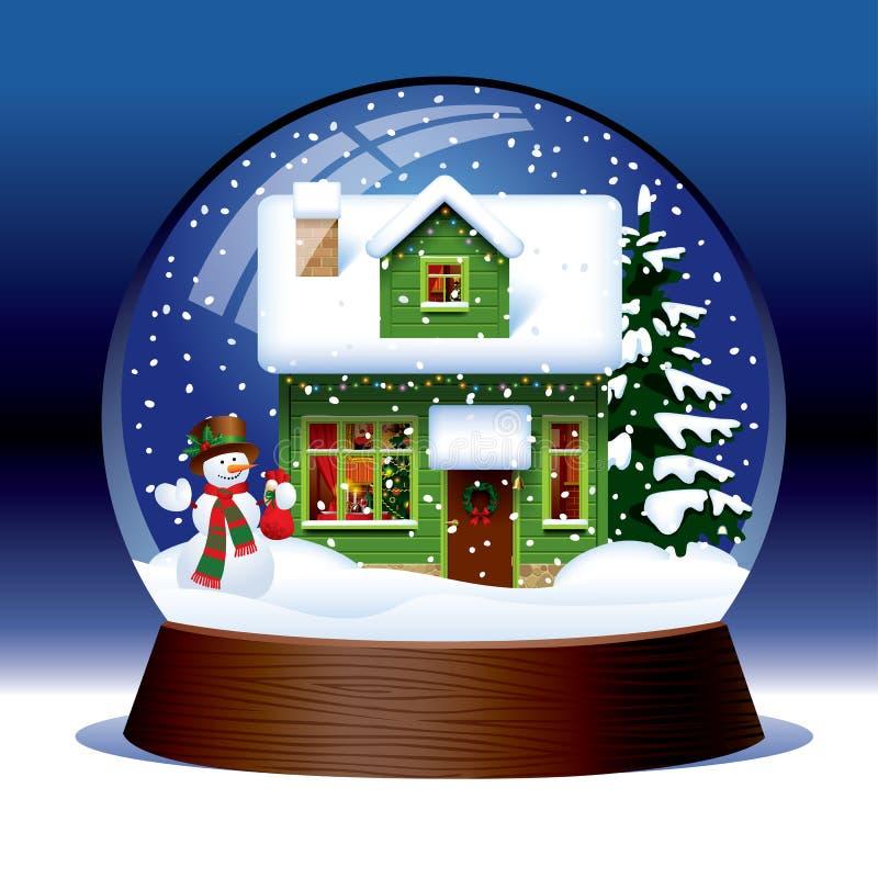 Śnieżna kula ziemska ilustracji