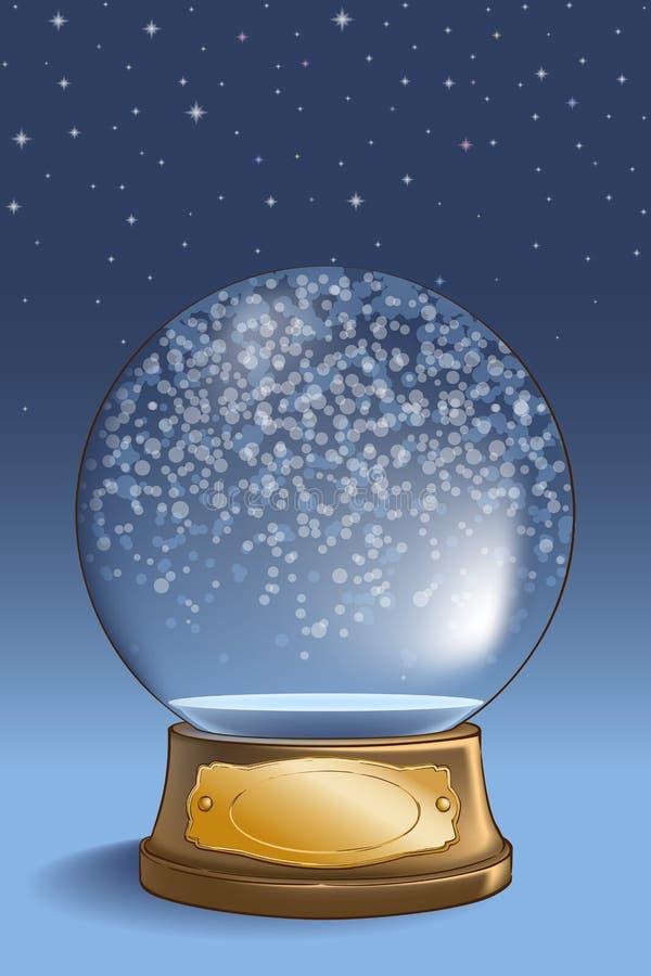Śnieżna kula ziemska pusta ilustracji