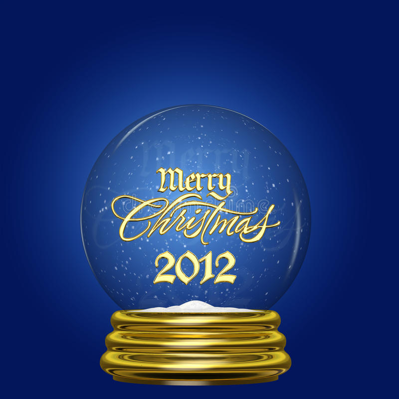 Śnieżna Kula ziemska - Wesoło Boże Narodzenia 2012 ilustracji