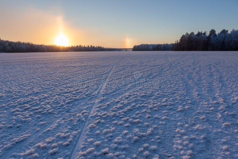 Śnieżna lodowego kryształu formacja obraz royalty free
