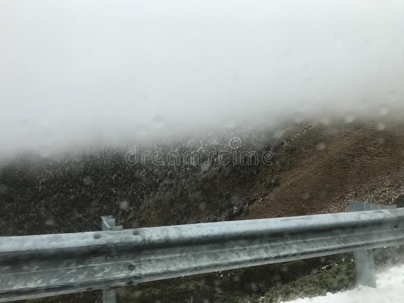 Śnieżna mgła obrazy stock
