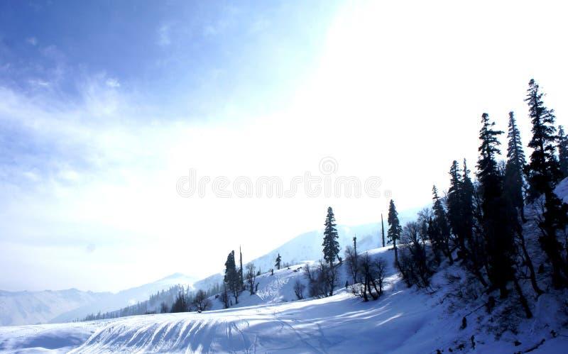 Śnieżna odziana góra zdjęcia stock