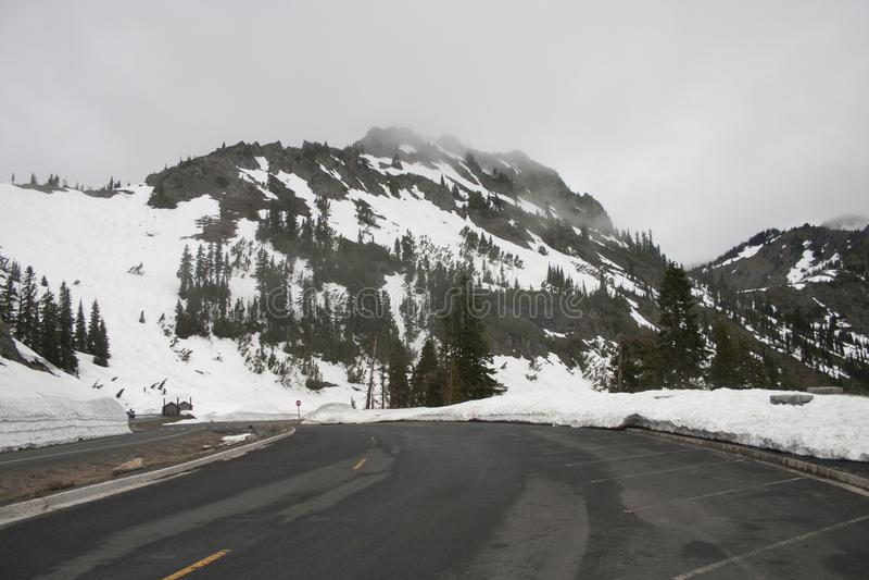 Śnieżna północny zachód góra fotografia royalty free