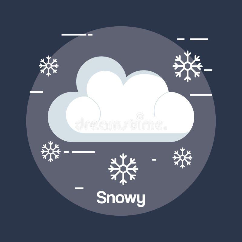 Śnieżna pogodowa status ikona royalty ilustracja