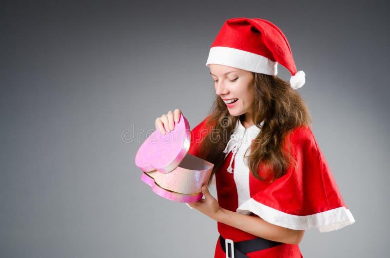 Śnieżna Santa dziewczyna obrazy stock