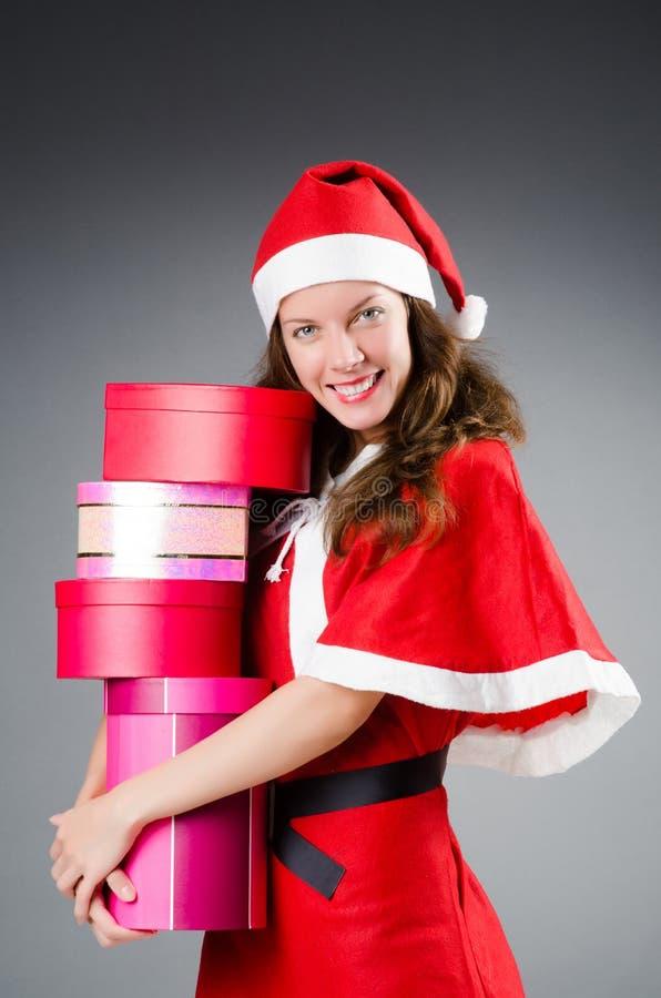 Śnieżna Santa dziewczyna zdjęcia stock