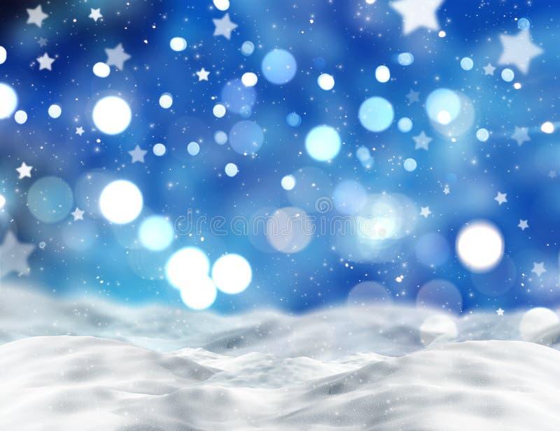 Śnieżna scena ilustracja wektor