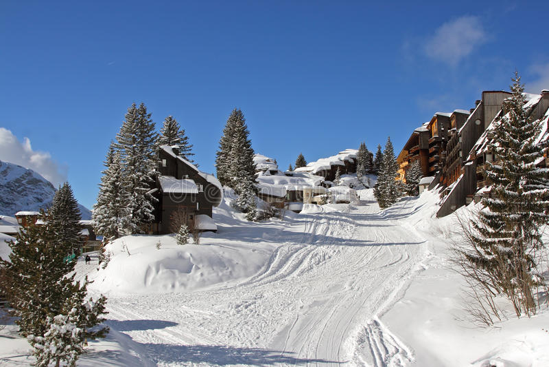 Śnieżna ulica obraz stock