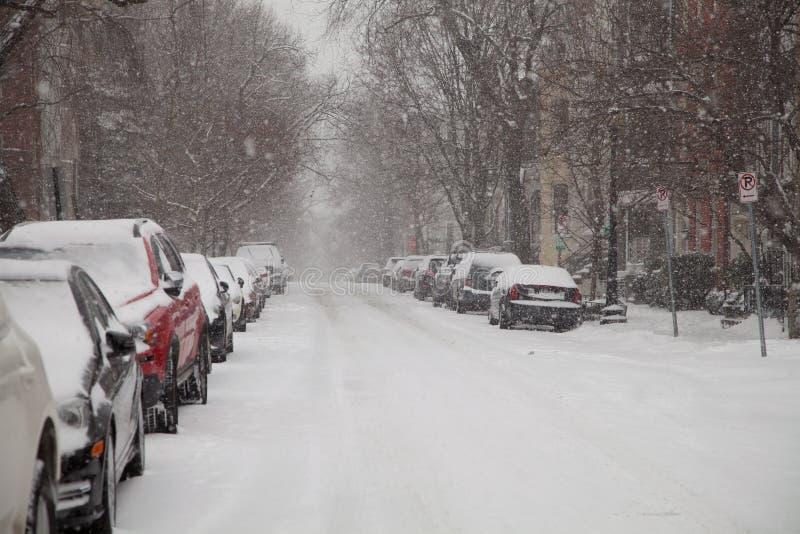 Śnieżna ulica zdjęcie stock