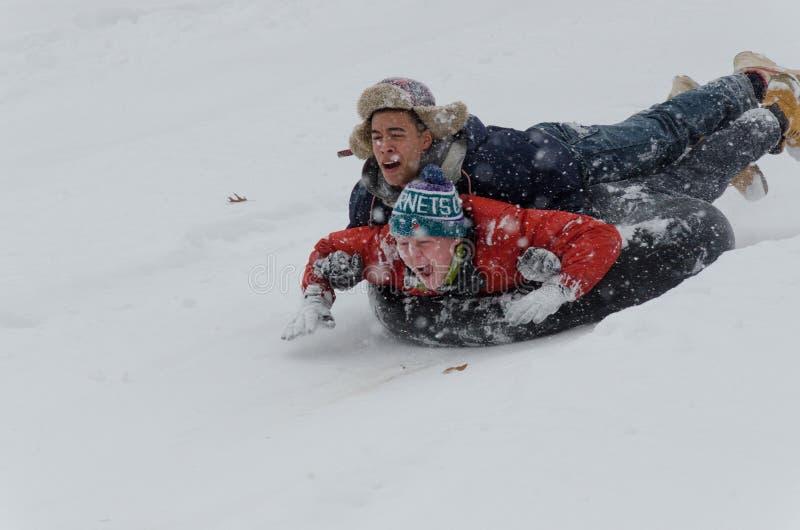 Śnieżna zabawa zdjęcia stock