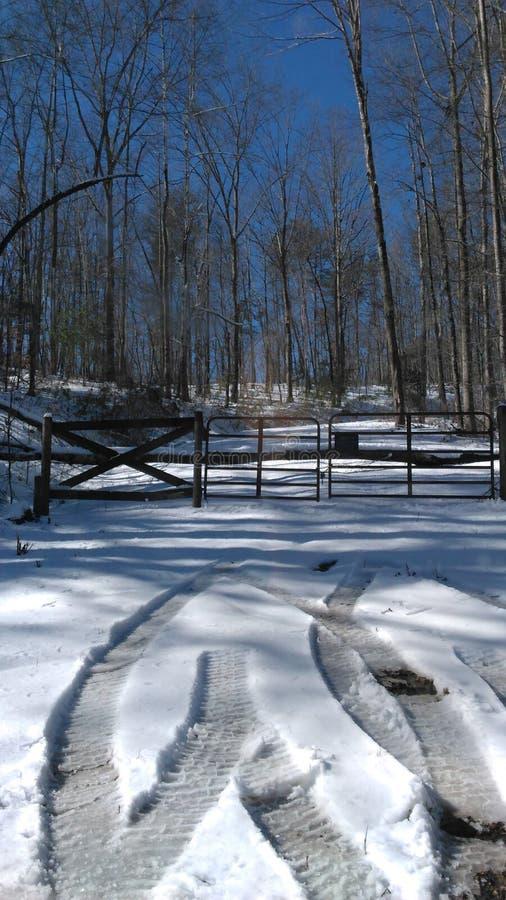 Śnieżna zima obraz stock