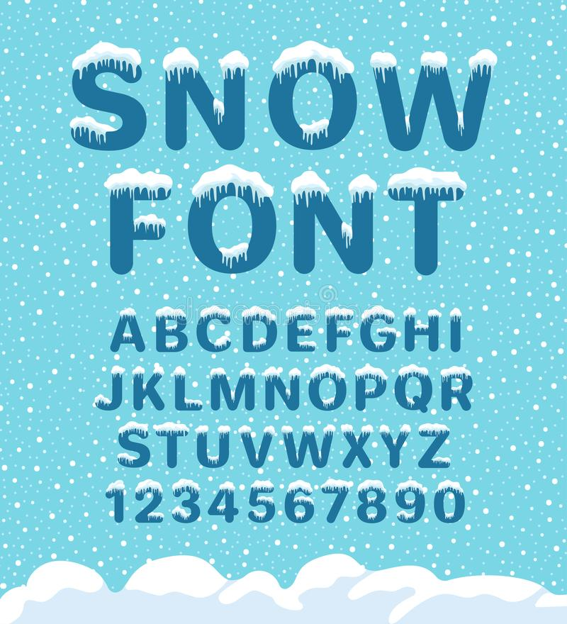 Śnieżna zimy chrzcielnica royalty ilustracja