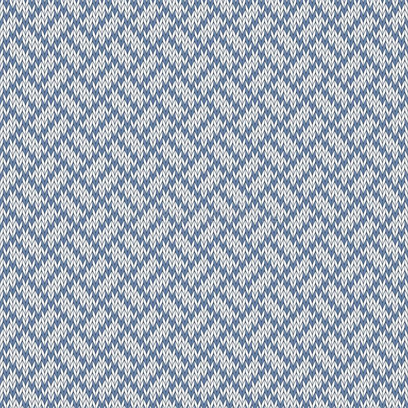 Śnieżne ścieżki Bezszwowy woolen trykotowy wzór royalty ilustracja