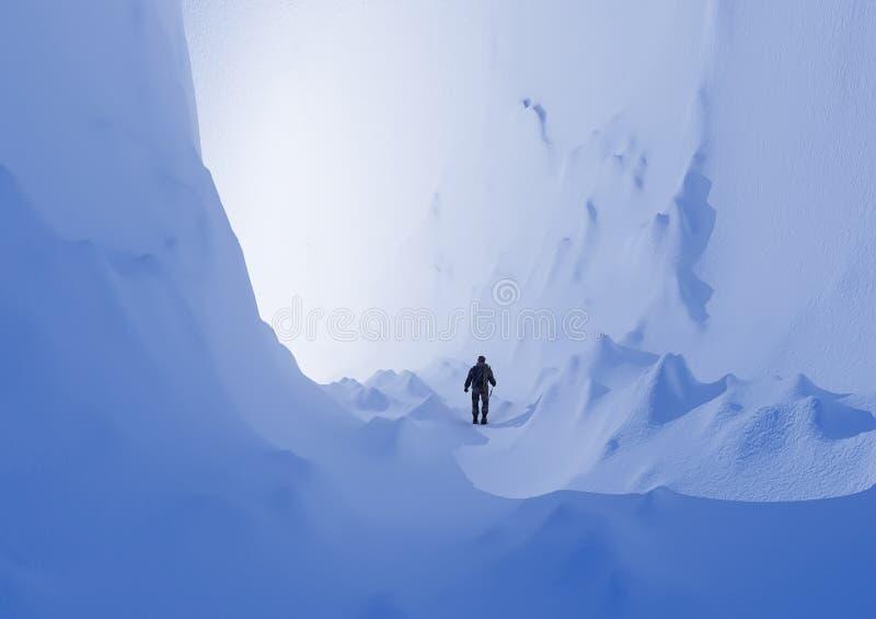 Śnieżne góry. royalty ilustracja