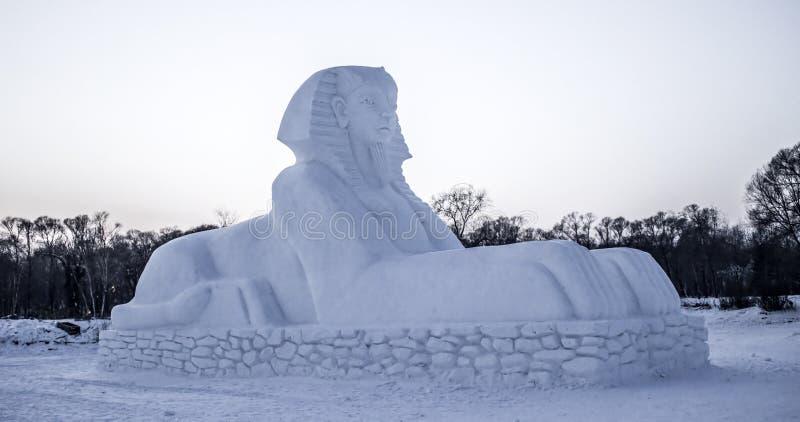Śnieżne rzeźby przy Harbin Lodowym i Śnieżnym festiwalem w Harbin Chiny obrazy stock