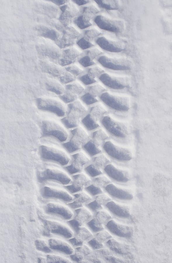 śnieżnej opony ślad obrazy stock